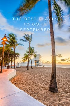 Travelling in September is a great way to get over those summer blues and explore what shoulder season has to offer! There are almost 20 different destinations to choose from when picking the best place to go in September so make sure you do enough travel research to find the right one for you! Whether you're looking for a cold place to travel in September or you're following the sun, there is the perfect place in this post! Click the pin to find out more about where to go in September 2021! Florida Travel, Travel Usa, Travel Tips, Travel Guides, Travel Deals, Travel Hacks, Travel Essentials, Luxury Travel, Budget Travel