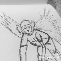 Flying Monkey Brains #sketchaday #artlove #penandink #nerds #art #sketchbook #artists   #sketch_daily #pencils #artnerd #acompanyofn3rds #dopeart #imayneednewglasses #sanctuary #art_boost #n3rds #blerds #geeks  #spotlightonartists #arts_help #artists_community #prismacolor #copic #moleskine #camu   #IamanArtist