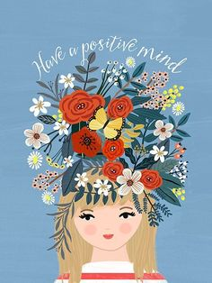 have a positive mind art illustration quote Happy Thoughts - Mia Charro Happy Quotes, Best Quotes, Love Quotes, Inspirational Quotes, Super Quotes, Happy Motivational Quotes, Girl Quotes, Quotes Quotes, Happy Thoughts
