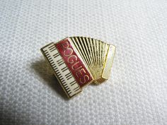 RARE Vintage 80s The Pogues - Enamel Accordion - Pin / Button / Badge by beatbopboom on Etsy