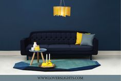 How about this for sharp?  Zingy contemporary sunflower yellow chandelier teamed with dark blue, grey blue and yellow accessories. (scheduled via http://www.tailwindapp.com?utm_source=pinterest&utm_medium=twpin&utm_content=post51582194&utm_campaign=scheduler_attribution)