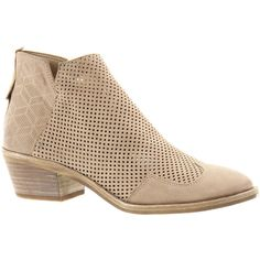 Dolce Vita Sahira Women's Tan Boot 7.5 M (7.050 RUB) ❤ liked on Polyvore featuring shoes, boots, tan, embellished boots, mid-heel boots, tan short boots, side zip boots and dolce vita shoes
