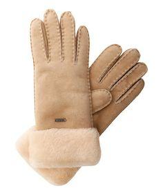 Chestnut Apollo Bay Gloves $80 EMU Australia Zulilyfinds - more colors -Australian double-face sheepskin, warming fleece. Extremely durable, intricate stitch edging detail