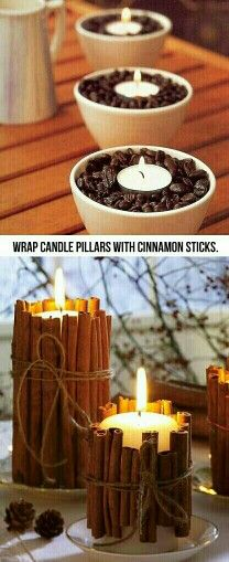 And put tea lights in coffee beans