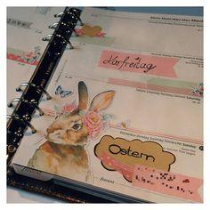 KW 12 - Ostern #ostern #hase #easter #bunny #filofax #filofaxing #planning #malden #washitape #filo #planner #wochendeko by filo.nine
