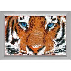Ojos del tigre 10,00€  Descripción: Kit completo para bordar con abalorios.  Altura: 12 cm          Anchura: 17 cm