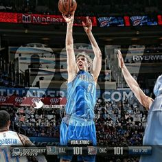 Dirk Nowitzki - By @dallasmavs End of the 3rd: Mavs 101 @okcthunder 101. Monta 21 points,  @swish41 has18 putting him over 28K in career points. #DALatOKC #Dallas #Mavericks #Mavs #MFFL #NBA #DallasMavericks #MavsNation #Dirk