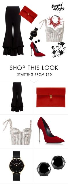 """""""Night out"""" by roxx1993 on Polyvore featuring Alexis, Alexander McQueen, Rosie Assoulin, Casadei, CLUSE, West Coast Jewelry and Brunello Cucinelli"""