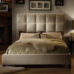 Sarajevo Taupe Velvet Tufted King Bed