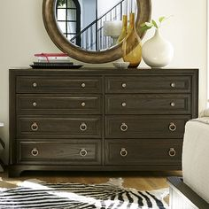 Darby Home Co Dianna 8 Drawer Dresser Color: Hollywood Hills 8 Drawer Dresser, Wood Dresser, Drawers, Dressing Table Design, Nursery Dresser, Space Place, Hamptons House, Brown Wood, End Tables
