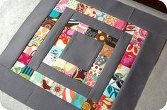 Scrappy quilt block.: