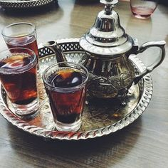Egypt | Egypt is a large importer of tea, and it's common to drink unsweetened black tea throughout the day. Hibiscus tea is often a specialty at Egyptian weddings.