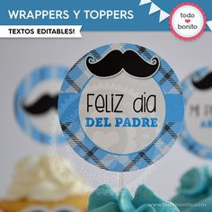 Bigotes: wrappers y toppers - Todo Bonito
