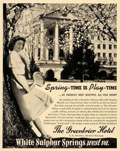 Spring at #TheGreenbrier circa 1940!