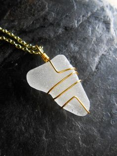 Sea Glass Jewelry Wire Wrapped Beach Glass by SeaFindDesigns, $20.00