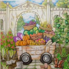 Romantic Country - The Third Tale --> For the top-rated coloring books and writing utensils including colored pencils, watercolors, gel pens and drawing markers, logon to http://ColoringToolkit.com. Color... Relax... Chill.