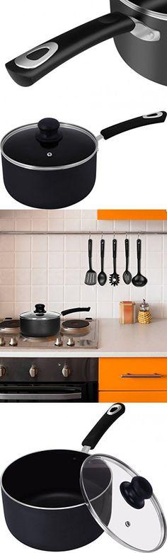 3 Quart Premium Aluminum Alloy Saucepan with Lid - 8 Inch - Riveted Handle - Multipurpose Use for Home Kitchen or Restaurant - Utopia Kitchen Saucepans, Aluminium Alloy, Home Kitchens, Stove, Kitchen Appliances, Handle, Restaurant, Diy Kitchen Appliances, Home Appliances