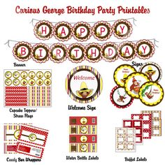 Curious George birthday party printables