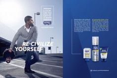 "Nivea tried telling blacks to re-civilize themselves. This belongs in the visual stereotypes for a few reasons. 1) Nivea is telling blacks Re-civilize and ""look like you give a damn"" with him throwing the afro away for the short cut. 2) They have a ""civil"" black man on a football field throwing the uncivil black male."