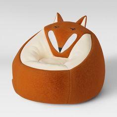 Character Bean Bag Chair Orange Fox - Pillowfort