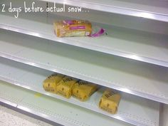 when snow is predicted in the South...