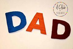 scritta DAD, lettere rivestite con fili di lana, clubdeipiccoliartisti@yahoo.it FB: clubdeipiccoliartisti