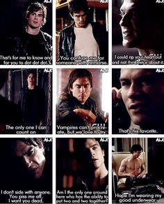 damon and his famous one-liners