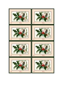 Set of Christmas tags to print and cut. Punch hole and add ribbon. Christmas Tags To Print, Christmas Gift Tags, Gift Of Time, Print And Cut, Punch, Cheer, Gallery Wall, Ribbon, Printables