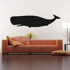 Large Whale Vinyl Wall Decal Sticker