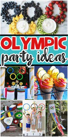 Party Food Themes, Dinner Themes, Birthday Party Themes, Party Ideas, 4th Birthday, Birthday Ideas, Kids Olympics, Tokyo Olympics, Summer Olympics