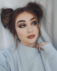 33 Easy Makeup for College in diesem Herbst - Makeup and Beauty - Make-up Cute Makeup, Gorgeous Makeup, Simple Makeup, Hair Makeup, Makeup Tips, Makeup Ideas, Amazing Makeup, Makeup Tutorials, Makeup Products