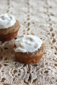 """{Date-Sweetened} Mini Carrot Muffins for Baby (with yogurt """"frosting"""") « Healthy Food For Living"""