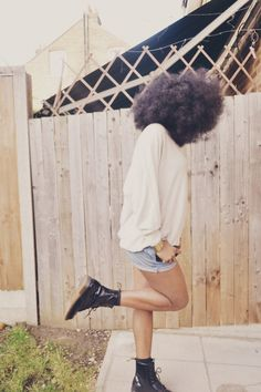 natural hair - in stride with big hair.