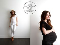 Any top into maternity top - with these 3 diys
