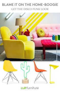 Embrace the unexpected, prompt for your own creativity by adding funky colourful and quirky elements to your home!