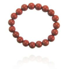"""10mm Round Red Jasper Bead Bracelet, 7.25"""" Amazon Curated Collection. $10.00. Made in China"""