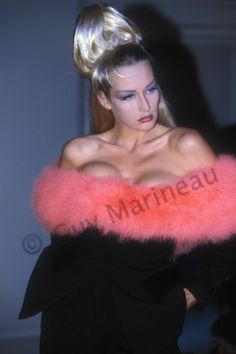 Estelle Lefébure | Guy Marineau Photography Thierry Mugler 1991 http://guymarineau-photography.com/2016/03/28/estelle-lefebure/