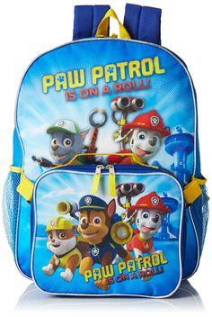 Paw Patrol Boys' Paw Patrol Dual Backpack With Detachable Lunch Bag Puppy Blast, Multi, One Size