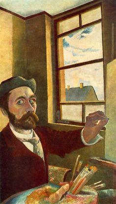 Csontváry Kosztka Tivadar - Önarckép, 1900 körül / Self Portrait, c. Joseph Ducreux, Charles Angrand, Felix Vallotton, Maurice De Vlaminck, George Grosz, Jean Leon, Maurice Denis, Art Corner, Post Impressionism