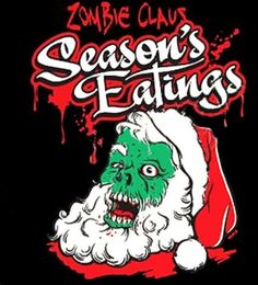 Zombie Claus Christmas Adult Black Tshirt New Sizes by shirtking, $14.00