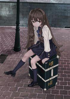 Especially cute anime girls and boys being cute. Content from anime, manga,. Manga Girl, Anime Girls, Anime School Girl, Cool Anime Girl, Pretty Anime Girl, Beautiful Anime Girl, Kawaii Anime Girl, Anime Art Girl, Anime Chibi