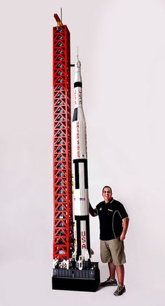 HUGE Lego Space Rocket Saturn V, via Flickr.