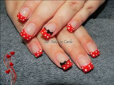 Minnie dots by winternikki - Nail Art Gallery nailartgallery.nailsmag.com by Nails Magazine www.nailsmag.com #nailart