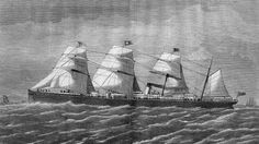 The 3,707 ton, four-masted steam ship RMS Atlantic sank on April 1, 1873 after hitting rocks off Nova Scotia, Canada. Over 560 lives were lost. It was the worst disaster in maritime history at the time, and White star Line's second worst ever disaster, the other being the loss of the Titanic. http://maritime-executive.com/features/the-sinking-of-rms-atlantic