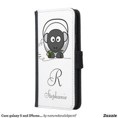 Case galaxy S and IPhone. monogram and Sheep.