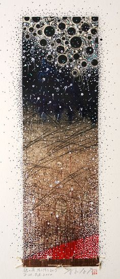 Silver drops fall fall all aroundD-26.Oct.2010 painting,collage on original printed paper 林孝彦 HAYASHI Takahiko 2010