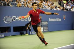 Novak Djokovic finds a way to win in the final match of the day in Arthur Ashe.