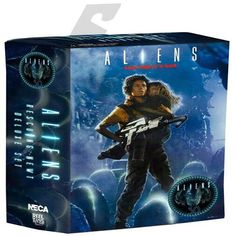 NECA 30th Anniversary Aliens Rescuing Newt Deluxe Set Vogue Ripley and Newt 18cm