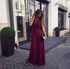Платье выпускное цвет марсала бордовое в пол Запорожье - изображение 3
