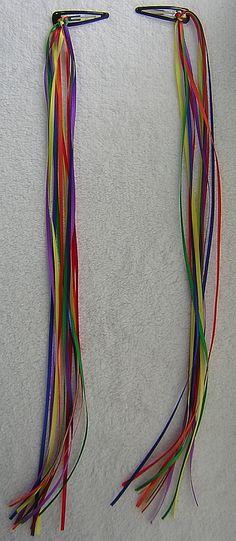 Rainbow Ribbons Snap Barrettes